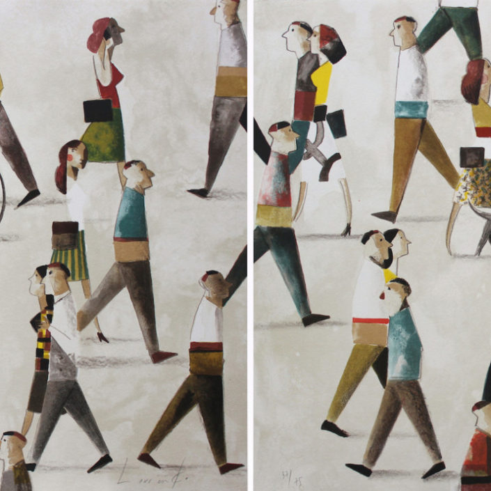 Walkers( Opción horizontal 60 x 174 cm )